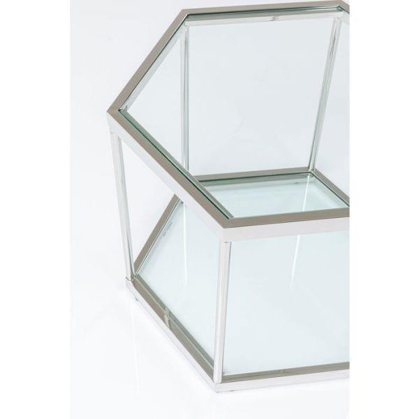 Kare Design Comb Silver 45cm salontafel 85026 - Lowik Meubelen