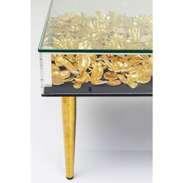 Kare Design Gold Flowers 120x60cm salontafel 84756 - Lowik Meubelen