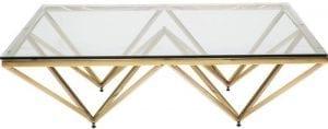tafel Salontafel Network Gold 105x105cm Kare Design tafels - 79622 - Lowik Meubelen