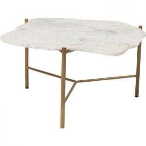 Kare Design Piedra White 76x72cm salontafel 83513 - Lowik Meubelen