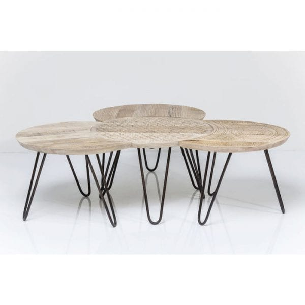 tafel Salontafel Puro (4/Set) Kare Design tafels - 81612 - Lowik Meubelen