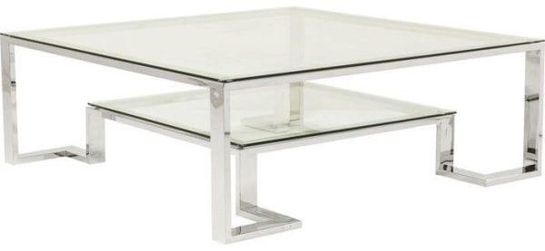 tafel Salontafel Silver Rush 120x120cm Kare Design tafels - 82598 - Lowik Meubelen