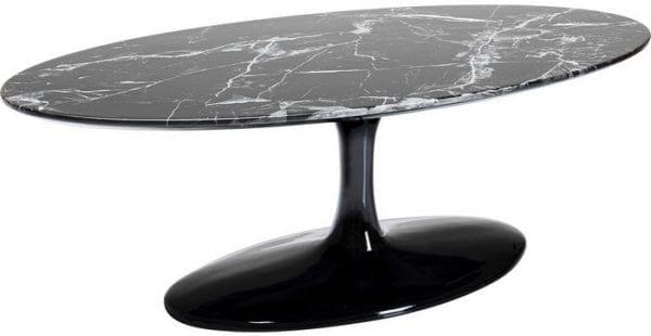 Kare Design Solo Marble Black 120cm salontafel 85003 - Lowik Meubelen