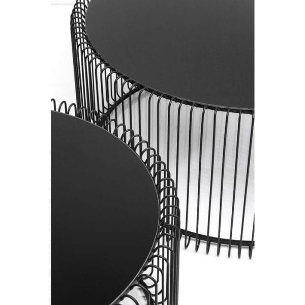 Kare Design Wire Black (2/Set) salontafel 79577 - Lowik Meubelen