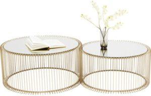 Kare Design Wire Brass (2/Set) salontafel 83456 - Lowik Meubelen