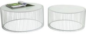 Kare Design Wire White (2/Set) salontafel 80179 - Lowik Meubelen