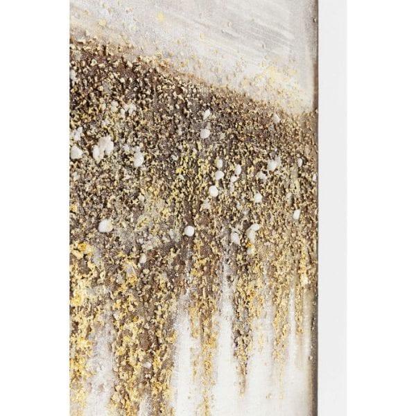Oil Painting Abstract Fields 120x90cm 61661 foto: linnen vlas, lijst: spar vast hout natuurlijk / onbehandeld, handgeschilderd Kare Design