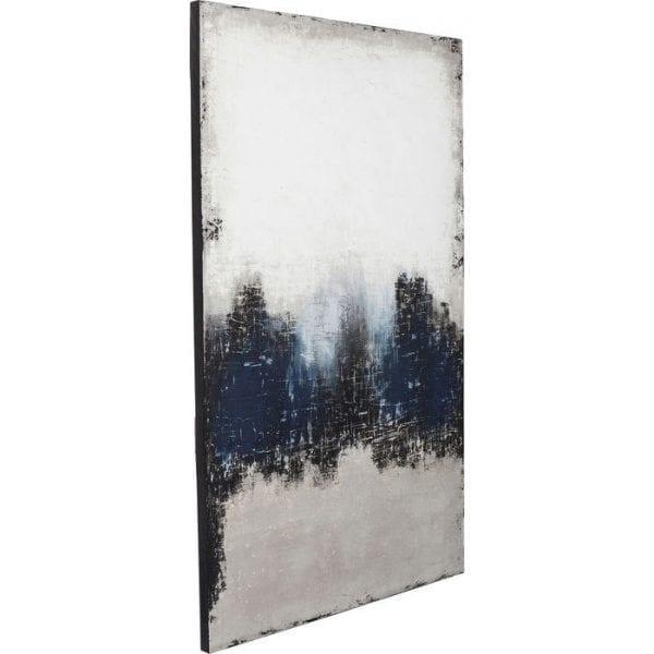 Oil Painting Abstract Into The Sea 210x120cm 61663 foto: linnen vlas, lijst: spar vast hout natuurlijk / onbehandeld, handgeschilderd Kare Design
