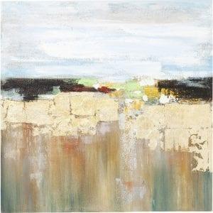Oil Painting Abstract Landscape 120x120cm 60777 Meditatie gemakkelijk gemaakt - foto's maken het mogelijk. Het maakt niet uit hoe en waar je leeft, ze geven je het uitzicht waar je van droomt - een abstract landschap in warme, natuurlijke tinten bijvoorbeeld. Hang het gewoon op en laat je ogen dwalen over zijn aantrekkelijke functies. Kare Design