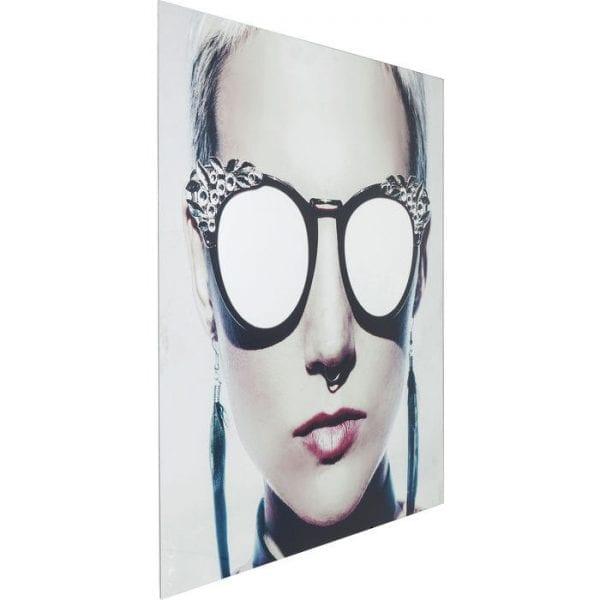 Schilderij Glas Metallic Girlie 120x120cm 65141 Afbeelding: Polypropyleen, voorzijde: 4 mm glas Gehard veiligheidsglas Gelamineerd, voor wandbevestiging Horizontaal Kare Design
