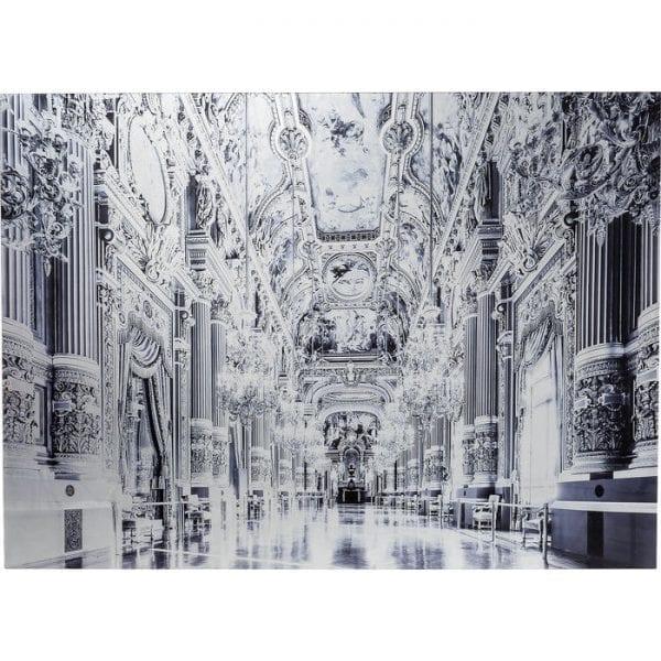 Schilderijglas metallic Versailles 120x180cm 61575 picture: polypropyleen, front: 4 mm glas gehard veiligheidsglas gelamineerd Kare Design