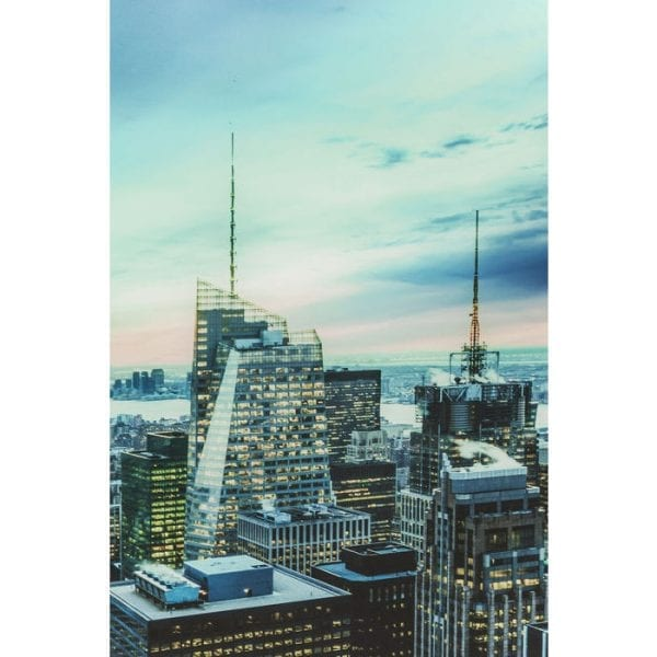 Schilderij Glas New York Sunset  160x120cm 60325 Galerij voor thuis Als het gaat om fotografische kunst, zijn stedelijke motieven ideaal om uw muren te versieren. Deze foto voert je naar New York, waar je ogen nooit de indrukwekkende architectuur en de sfeervolle sfeer van het licht zullen verliezen. Ook ziet er geweldig uit in combinatie met andere stadsmotieven of landschapsfoto's! Ook verkrijgbaar in andere maten Kare Design