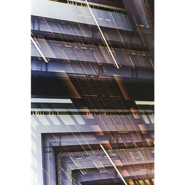 Schilderij Glas Science Fiction 120x180cm 38165 Het hart van de machine. Dit futuristische beeld met veiligheidsglas creëert nieuwe perspectieven in de ruimte. Het geeft tijdloze avant-gardistische accenten in portret- of landschapsformaat met diepgaande effecten en mechanisch ontwerpidioom. Kare Design