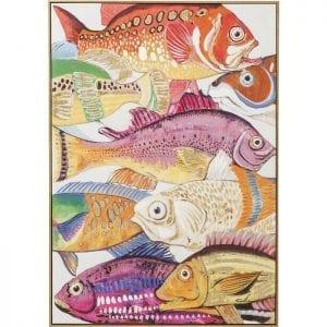 Schilderij Touched Fish Meeting One 100x70cm 60447 Onderwaterfoto. De kleurrijke school vissen kan nauwelijks worden overtroffen in veelkleurige pracht. De vele details zijn gedeeltelijk met de hand geschilderd en maken elke foto uniek. Een echte blikvanger ook buiten het water. Ook beschikbaar in andere versies. Kare Design
