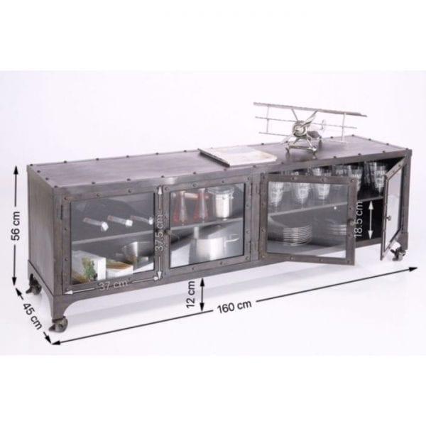 Kare Design Tv-dressoir Metal factory 74525 - Lowik Meubelen