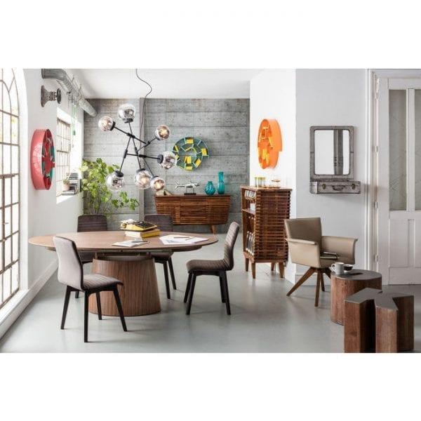 tafel Uitschuiftafel Benvenuto Walnut 200(50)x110cm Kare Design tafels - 80820 - Lowik Meubelen