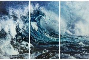Wanddecoratie Triptychon Wave 160x240cm (3 / Set) 64682 Afbeelding: dus je gelooft niet in wonderen? Deze driedelige set bewijst de onbeschrijfelijke diversiteit en kracht van de zee. De foto toont een brekende golf en het uitzicht is tegelijk dynamisch, hypnotiserend en kalm. Het harmonieert perfect met moderne meubels. De afdruk is vereeuwigd op veiligheidsglas. Kare Design