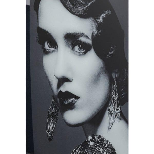 Kare Design Glass Beauty Lady 150x120cm wanddeco 51871 - Lowik Meubelen