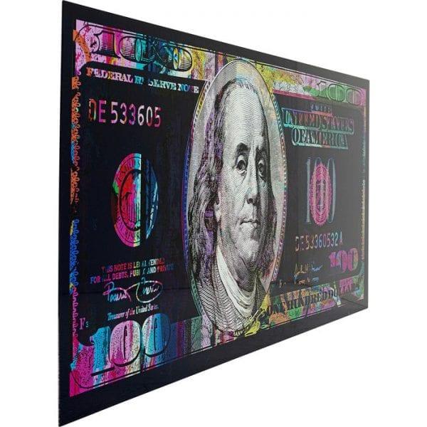 Kare Design Glass Dollar 80x200cm wanddeco 51874 - Lowik Meubelen