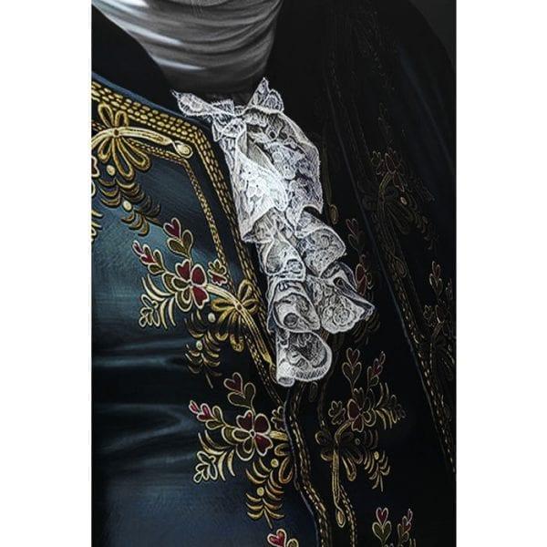 Kare Design Glass Gentleman Pig 120x120cm wanddeco 51868 - Lowik Meubelen