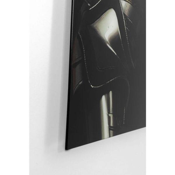 Kare Design Glass Knight Cow 120x120cm wanddeco 51866 - Lowik Meubelen
