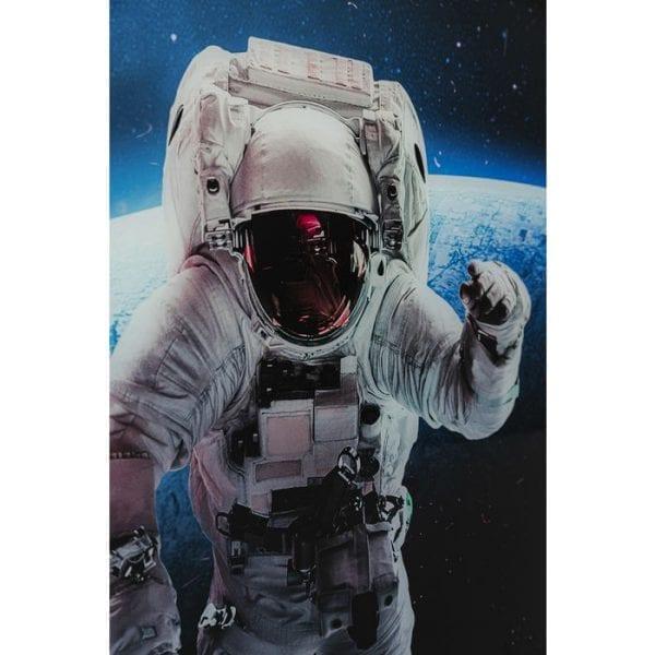 Kare Design Glass Man In Space 80x240cm wanddeco 51867 - Lowik Meubelen