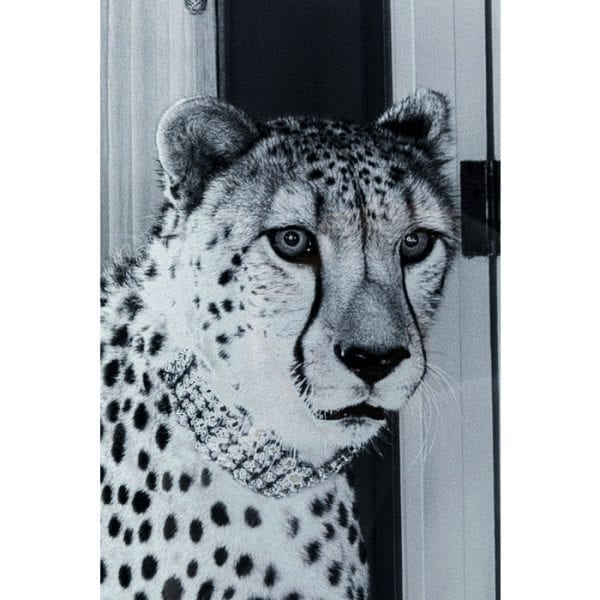 Kare Design Glass Metallic Gepard 100x150cm wanddeco 51872 - Lowik Meubelen