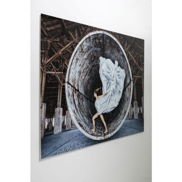 Kare Design Glass Time Traveller 120x180cm wanddeco 51817 - Lowik Meubelen