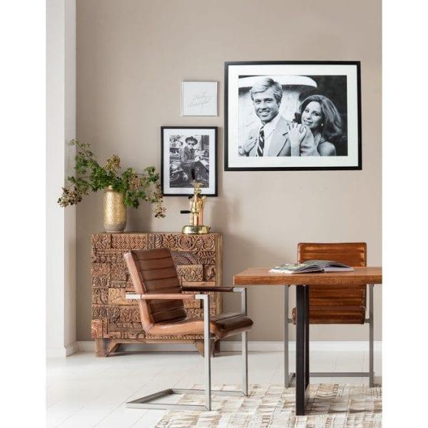 Fotolijst Lovers 80x100cm 61545 afbeelding afgedrukt op: papier, voorkant: glas helder, achterboard: spaanplaat gelakt, lijst: acrylonitril butadieen acryl Kare Design