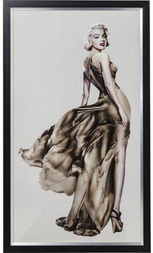 Fotolijst Marilyn 172x100cm 64657 Afbeelding: onvergelijkbare schoonheid. Dit grandioze achteraanzicht van filmgodin Marilyn Monroe strekt zich uit over de volledige afmetingen van 172x100 cm. Haar onvergelijkbare schoonheid blijft gevangen in deze foto en trekt alle ogen. Kare Design