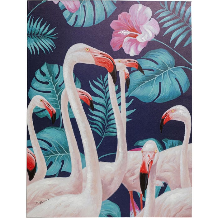 Wanddeco Touched Flamingo Road Nature - 122x92cm