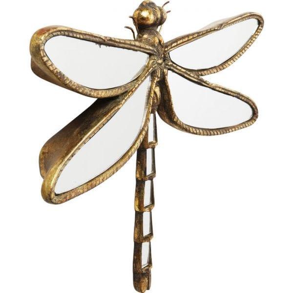 Kare Design Dragonfly Spiegel 37cm wanddecoratie 51223 - Lowik Meubelen