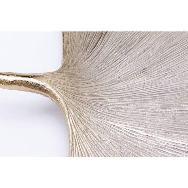 Wanddecoratie Ginkgo Leaf 59cm 61509 aluminium vernikkeld Kare Design