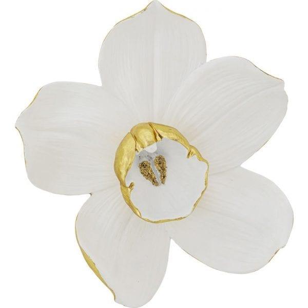 Kare Design Orchid White 44cm wanddecoratie 51932 - Lowik Meubelen