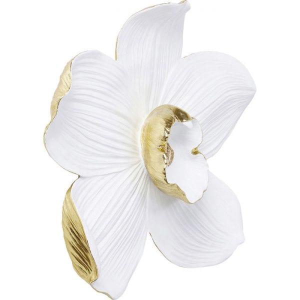 Kare Design Orchid White 54cm wanddecoratie 69163 - Lowik Meubelen