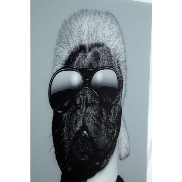 Kare Design Spiegel Designer Dog 60x60cm wanddecoratie 51875 - Lowik Meubelen