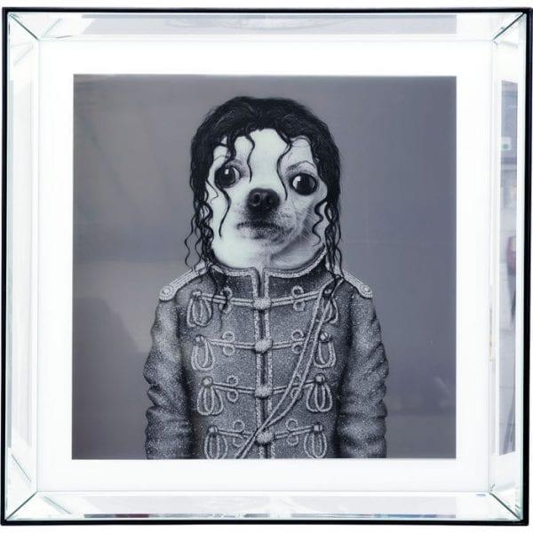 Kare Design Spiegel King Dog 60x60cm wanddecoratie 51877 - Lowik Meubelen