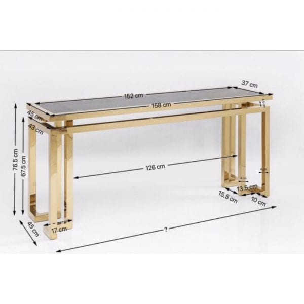 Kare Design Gold Rush wandtafel 82131 - Lowik Meubelen