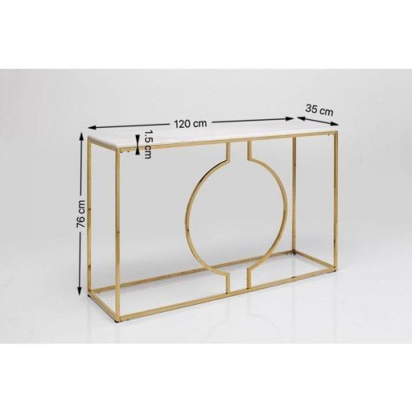 Kare Design Miami Loft 120cm wandtafel 83851 - Lowik Meubelen