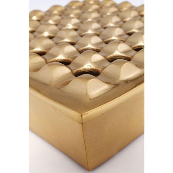 Asbak Soho Square Messing 25x25cm 61676 aluminium messing Kare Design