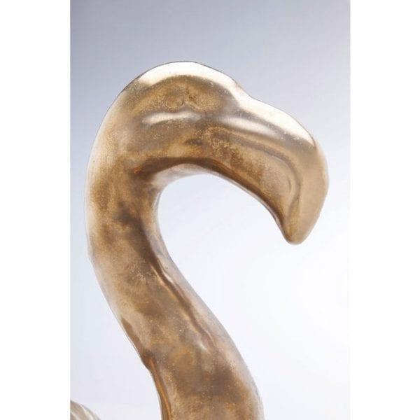 Deco Object Flamingo Side Gold 61637 Geglazuurd aardewerk, 1300 ° C Keramische brandtemperatuur Kare Design