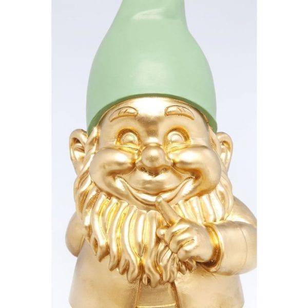 Deco Object Zwerg Standing Gold Green 42cm 61588 polyresin Kare Design