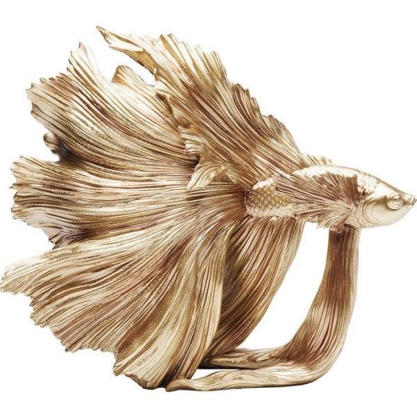 Kare Design Betta Fish Gold Small object 68023 - Lowik Meubelen