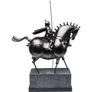 Deco Object Black Knight 63911 Decor: Staal gelakt, Object: Polyresin, Basis: Polyresin, Met de hand gemaakt Kare Design