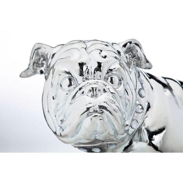Deco Object Bulldogge Silver Econo 42cm 33060 Pas op voor de hond! Deze bulldog is trouw aan het origineel in vorm en houding. Een toegewijde decowakenhond. Kare Design
