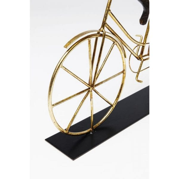 Deco Object Dog With Bicycle 63921 Voorwerp: staal gelakt, decoratie: polyresin, handgemaakt Kare Design