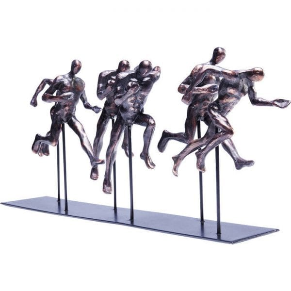 Deco Object Elements Runners 60839 Can strength be represented more impressively?! And the absolute will to achieve the goal?! Both make the Elements Runners sculpture so appealing, perhaps even infectious. A beautiful and thought-provoking decorative object on a chest of drawers, in the hallway or bedroom. And as a stylish decoration in the fitness studio! Kare Design