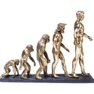 Deco Object Evolution 60807 Evolutie als een kunstwerk. Versiert de kamer en laat je denken ... Waar gaan we heen? Kare Design