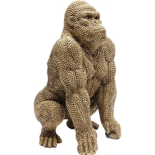 Deco Object Gorilla Gold 46cm 61562 object: polyresin Kare Design