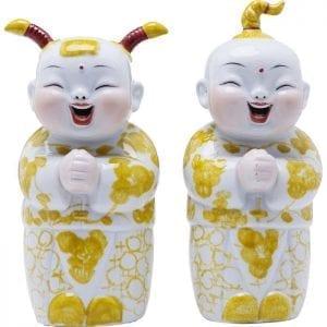 Deco Object Happy Kids (2/Set) 61772 porselein, geschikt voor magnetron, handgeschilderd, niet foodsafe Kare Design